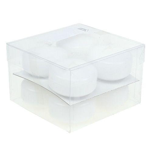 Schwimmkerzen Weiß 4,5cm 8St