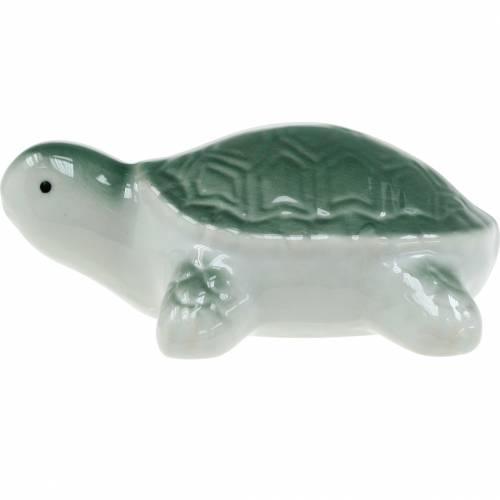 Schwimmende Keramik-Schildkröte Grün 11,5cm 1St