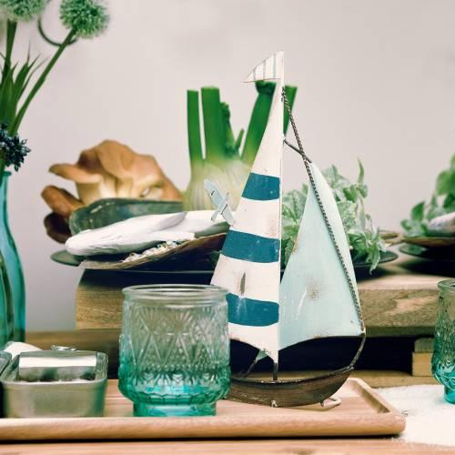 Segelboot Metall 15cm x 28cm