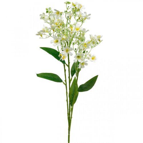 Künstlicher Seidelblast, Blumendeko, Seidenblume, Deko-Blume Weiß L72cm