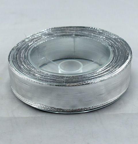 Seidenband mit draht silber 25mm 25m preiswert online kaufen for Silberdraht kaufen