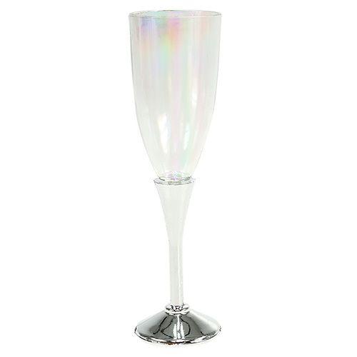 Silvesterdeko Sektglas Ø2,5cm H9,5cm 8St