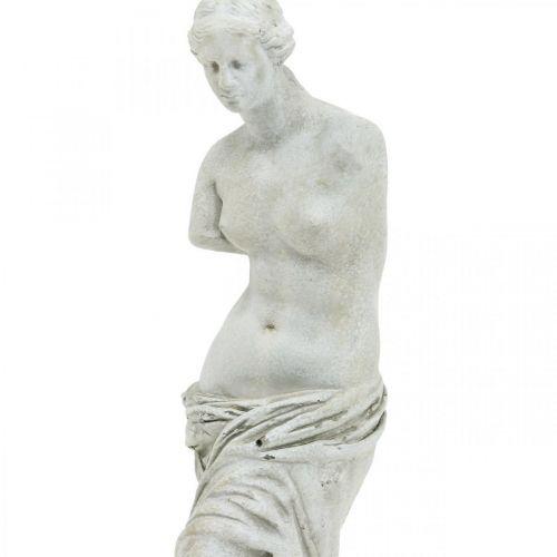 Venus Statue Deko-Skulptur H29cm Graubraun Dekofigur Garten