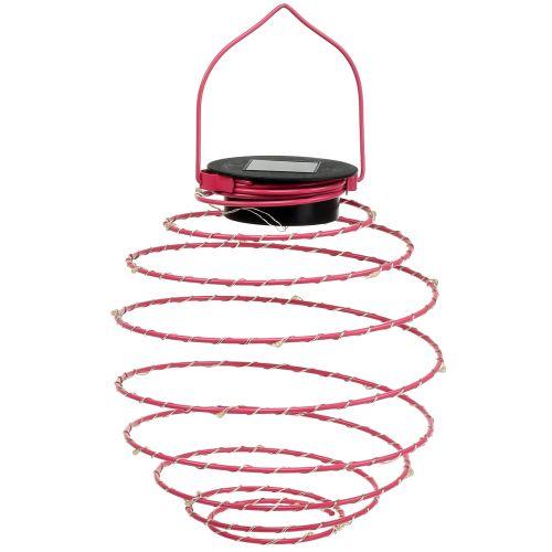 Solar Gartenleuchte Pink 22cm mit 25 LEDs Warmweiß