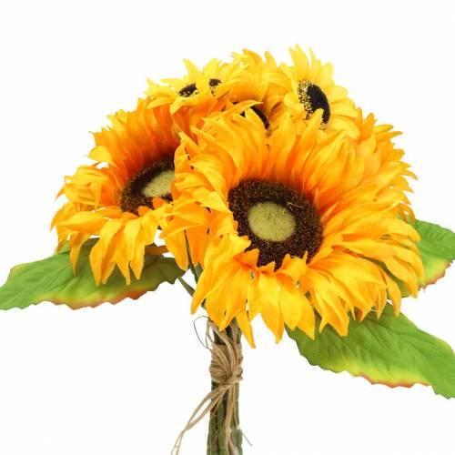 Deko-Strauß Sonnenblumen Bund Gelb 30cm