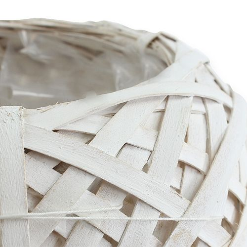 Spankorb rund Weiß 20cm