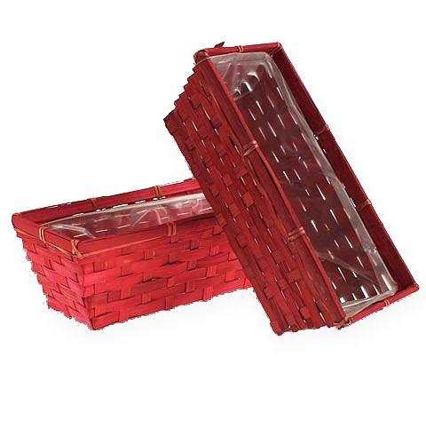 Spankorbsatz eckig Rot 25x12x9cm 10St