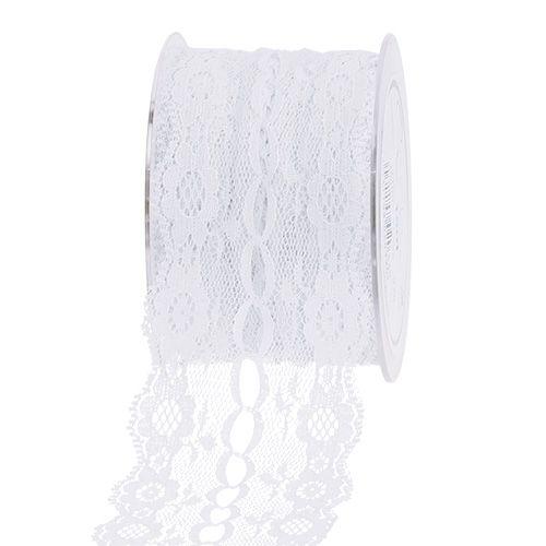 Spitzenband Weiß 55mm 15m preiswert online kaufen