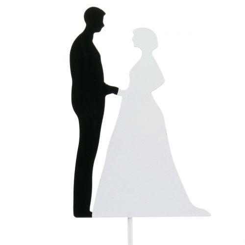 Dekostecker Brautpaar H20cm 4St