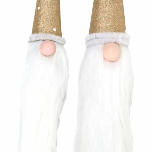 Holzstecker-Set Wichtel mit Bart aus Naturast Ø3/3,2cm L44/59cm 2St