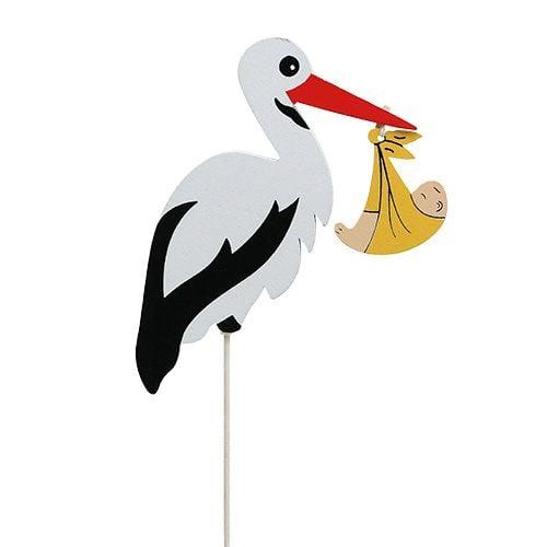 Stecker Storch mit Baby 10cm L28cm 14St