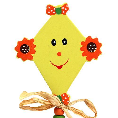 Stecker für Blumen Drachen gelb L31cm 4St