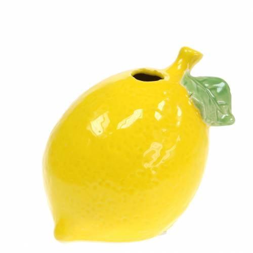 Steingutvase Zitrone Gelb 10cm