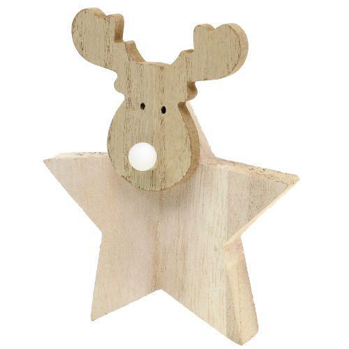 Elegant Rentier Weihnachtsdeko Holz 14cm X 17cm