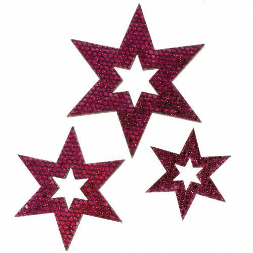 Streudeko Stern Lila 3-5cm 48St