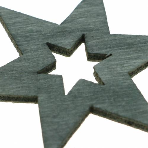 Streudeko Stern Schwarz, Silber, Dunkelgrau Sortiert 4cm 72St