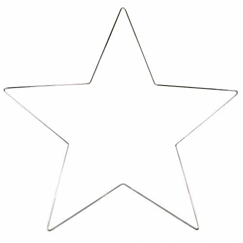 Deko Stern Silber 50cm 4St