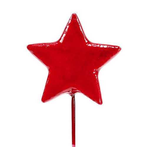 Sterne am Draht zum Dekorieren 5cm Rot 48St