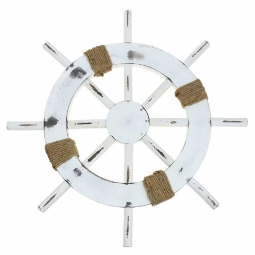 Steuerrad Fichtenholz Weiß 50cm