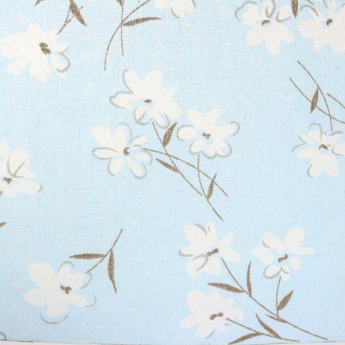 Dekostoff Blumen Blau 30cm x 3m