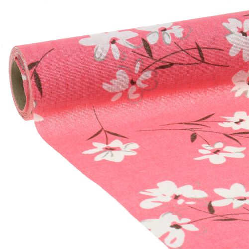 Dekostoff Blumen Pink 30cm x 3m