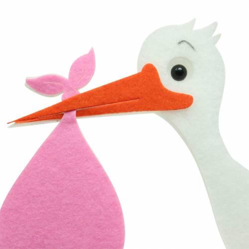 Deko Storch zum Hängen Pink 45,5cm x 39cm x 2cm