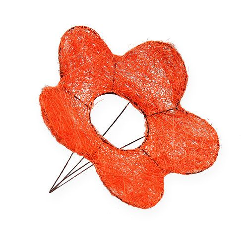 Sisal-Blumenmanschette Orange Ø20cm 10St