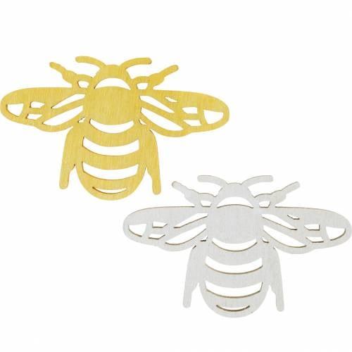 Streudeko Biene, Frühling, Holz-Bienen zum Basteln, Tischdeko 48St