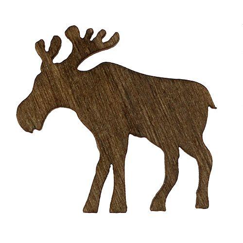 streudeko elch holz braun wei rot 4cm 72st preiswert online kaufen. Black Bedroom Furniture Sets. Home Design Ideas