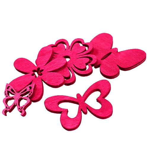 streudeko aus holz pink 2 4cm 72st preiswert online kaufen. Black Bedroom Furniture Sets. Home Design Ideas
