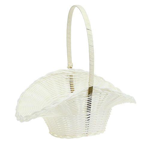 Streukörbchen für Hochzeit Plastik Weiß Ø15cm H32cm