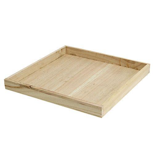 Tablett aus Holz groß 30cm x 30cm H3cm