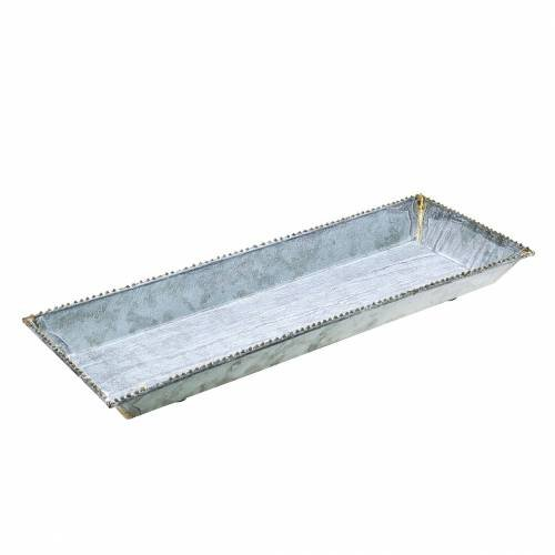 Deko Tablett Weiß Gewaschen Zink 40cm 15cm 69100 Preiswert Online Kaufen