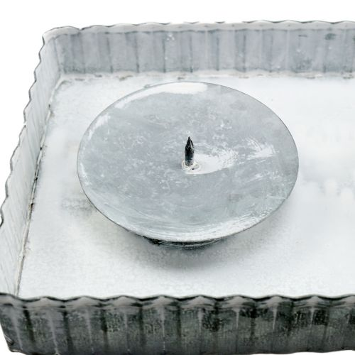 Holztablett Kerzentablett weiss gewaschen 40 x 16 x 2,5 cm Shabby Chic
