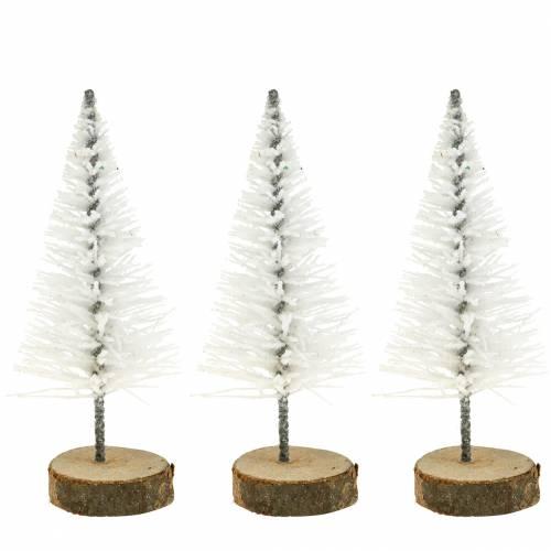 Deko-Tannenbaum Weiß Glitzer 8cm 24St