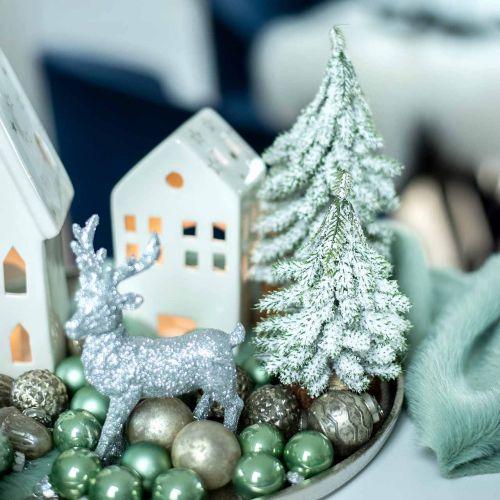 Tannenbaum mit Schnee, Weihnachtsdeko, Deko-Tanne H15cm