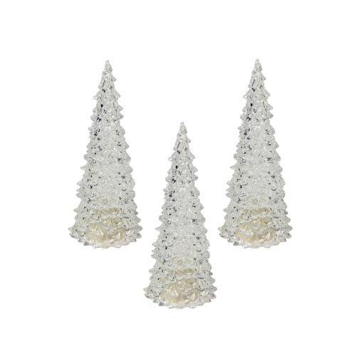 Weihnachtsbaum mit LED-Licht Klar Ø6cm H12cm