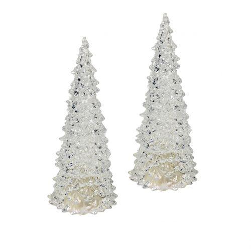 Tannenbaum Acryl mit LED-Licht 17cm Ø6cm