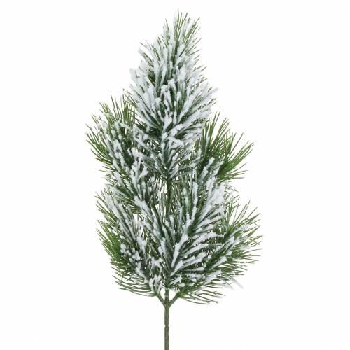 Kiefernzweig Grün beschneit 50cm