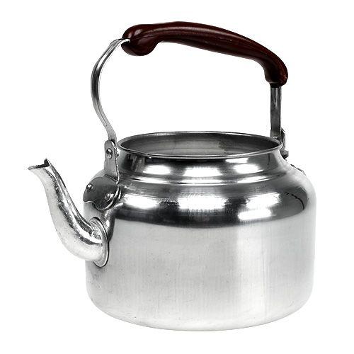 Teekanne Zink glänzend Ø19cm H15cm