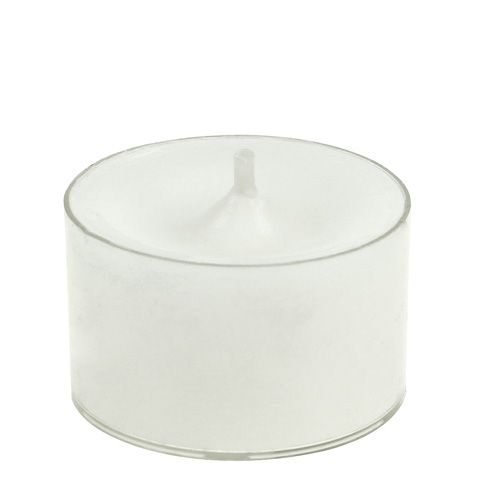 Teelichter Weiß in Plastikschale 50St