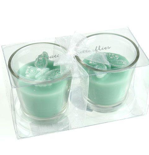 deko teelichter im glas mit schmetterling 2st preiswert online kaufen. Black Bedroom Furniture Sets. Home Design Ideas