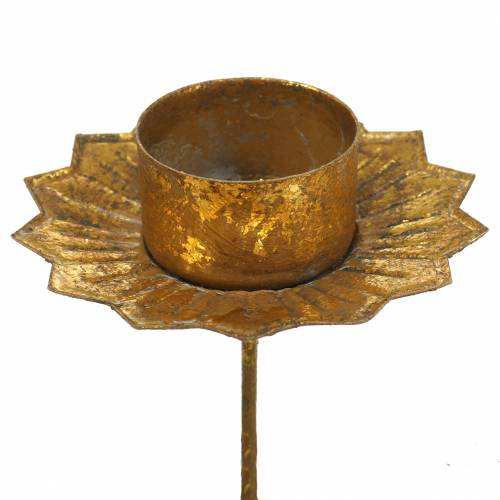 Teelichthalter zum Stecken Gold Ø9cm