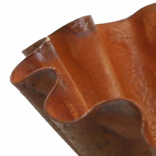 Dekoschüssel Backform-Optik Edelrost Ø12,5cm H4cm