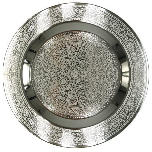 Deko Teller Marrakesch Silber Ø33cm