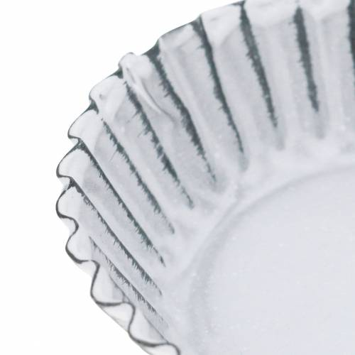 Dekoteller Backform Zink Weiß Ø10cm H2cm
