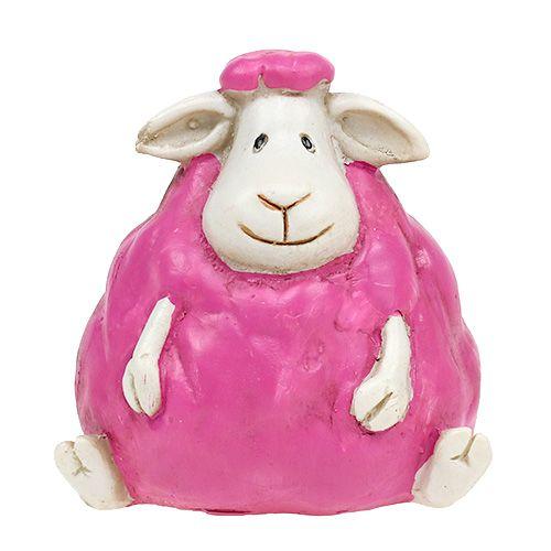 Tischdeko Schäfchen Pink, Rosa 6-10cm 3St preiswert online kaufen