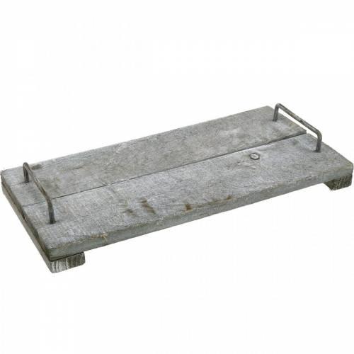Tischdeko, Dekotablett im Shabby Chic, Tablett mit Füßen, Holzdeko 40cm