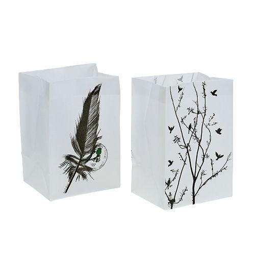 Tischdeko Plastiktasche mit Motiv 10x8x15cm 8St