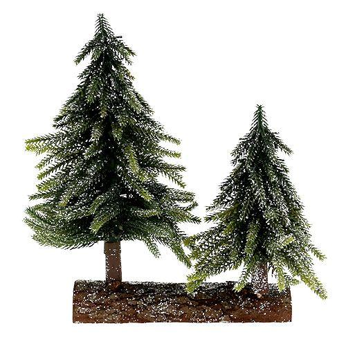 tischdeko weihnachtsbaum mit glimmer h27cm l19cm preiswert. Black Bedroom Furniture Sets. Home Design Ideas